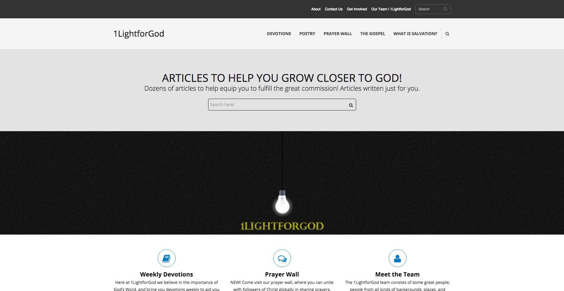 A Website for 1LightforGod
