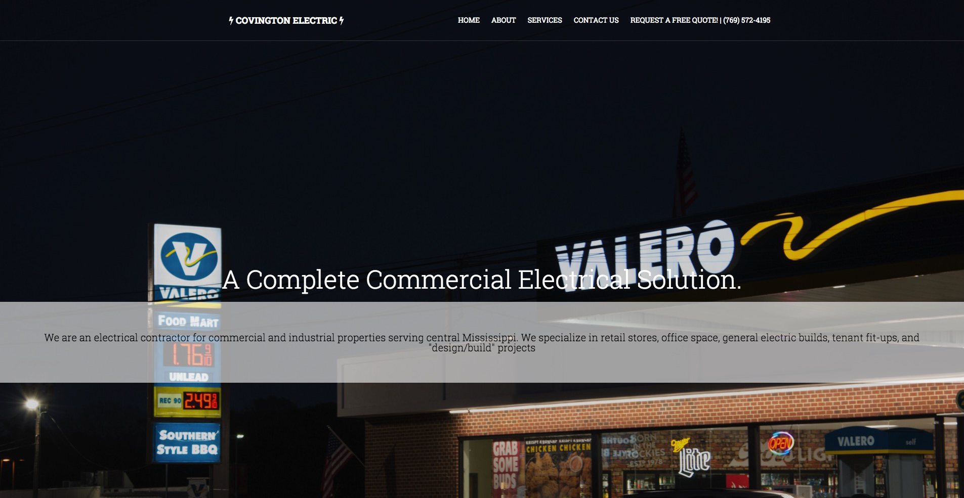 A Website for Covington Electric, LLC in Brandon, MS